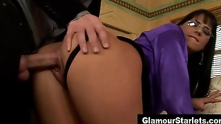 Clothed classy tot gets fucked
