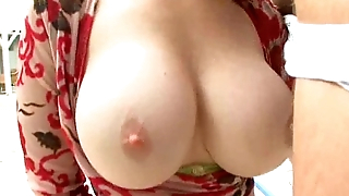 Brunette MILF sucks say no to poolboys cock by the pool