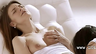 lezzie pleasuring together with fingerin in white