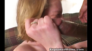 Amateur Housewife takes on a Big Black Dick in Milf Facial Video