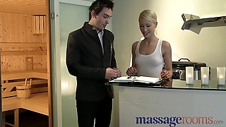Massage Rooms Uma rims guy before squirting with the addition of pleasuring choice